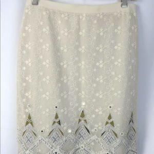 Elie Tahari Skirt Metallic Thread 8 BEAUTIFUL